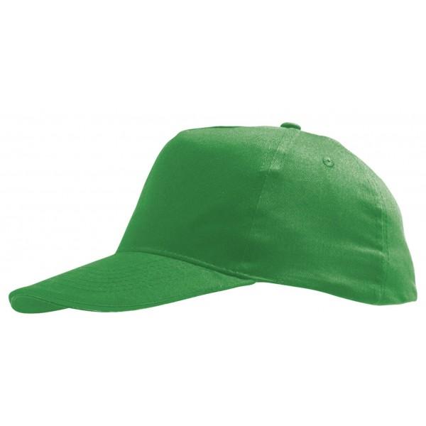 Бейсболка зеленая детская
