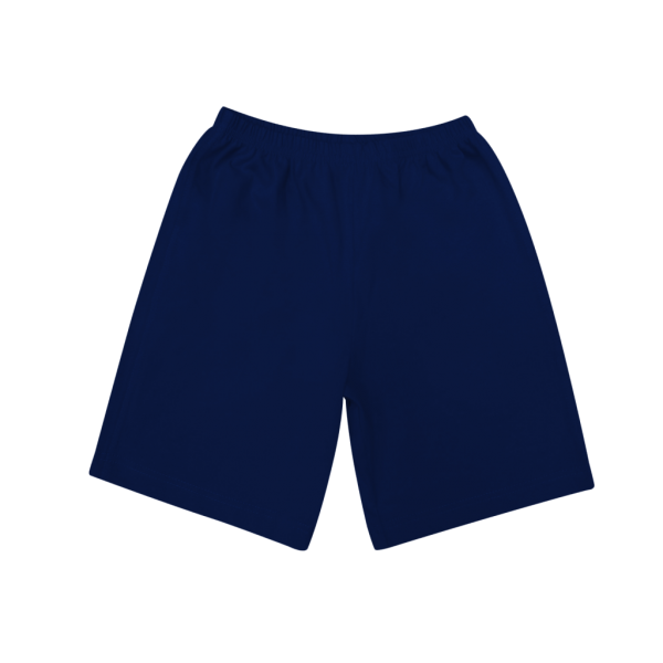 Шорты темно-синие удлиненные